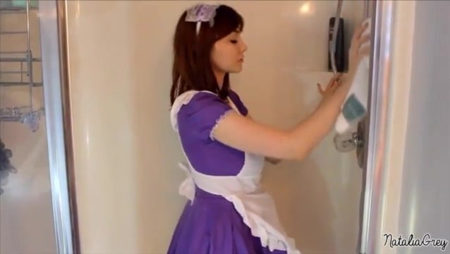Busty maid Natalia Grey gets creampied